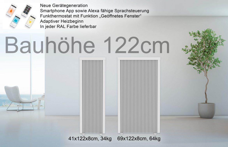Bauhöhe 122cm