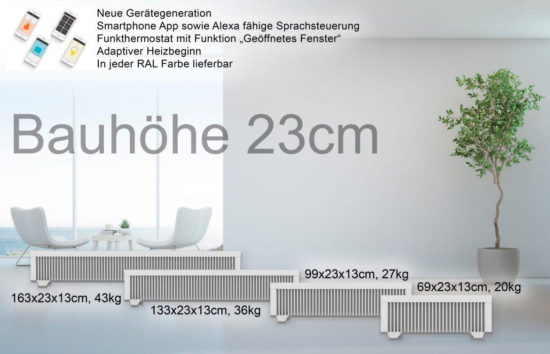 Bauhöhe 23cm